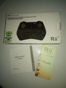 Rii i28C 3 in 1 Backlit Wireless Mini Keyboard With Touchpad