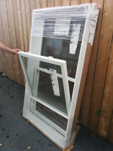 NEW – 4 Double-Hung WINDOWS by 'VINYLBILT' ALL NEW, NEVER INST