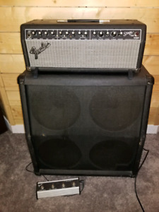 Fender Stage 100 head and Crate 412 cabinet