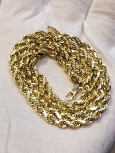 Solid 10k Italian gold Rope chain