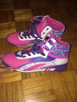Women Shoes retro pink / purple High top