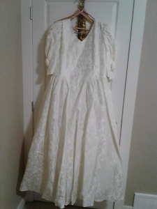 Brocade Size 22 Cream Color Wedding Dress