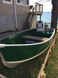 12 ft aluminum fishing boat with 2 hp evinrude