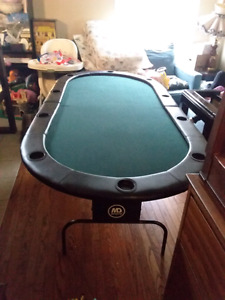 MD sports poker table