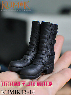 KUMIK 1/6 Black Widow Catwoman High Heeled Boots For Hot Toys SHIP FROM USA (Hot Widow Boots)