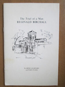 The Trial of a Man Reginald Birchall by Irene Crawford and Mary London Ontario image 1