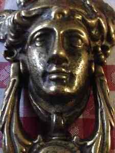 Vintage, Large Brass Greek Goddess Door knocker