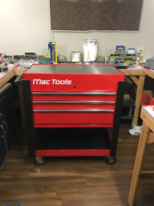 Mac Tool Cart with 3 Drawers and Slide Out Top