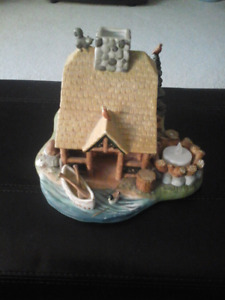 Cabin tealight candle holder