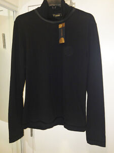 Versace Top Long Sleeves evening in Black With Tag