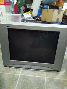 "Panasonic 27"" TV (CRT, but flatter than most)"