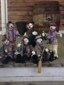 Poupées clown de collection / collectible porcelain clown dolls