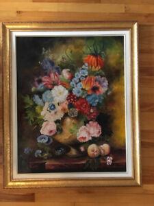 Peinture à l'huile - Fleurs - Anca Patru