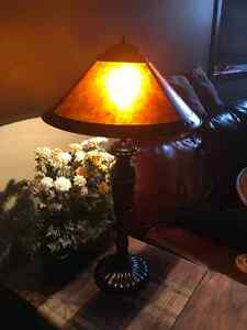 2 Electric lamps 2 candle holder lamps