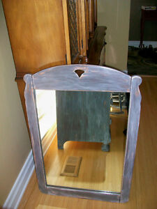 Solid wood antique dresser & matching mirror London Ontario image 2
