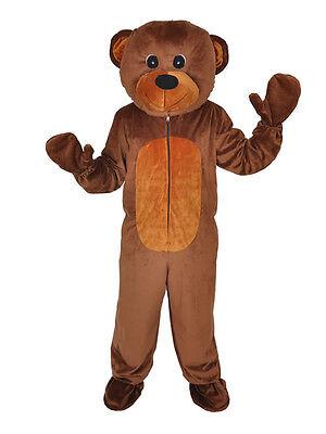 BÄR HAPPY TEDDY  EINHEITSGRÖSSE M  KOSTÜM KARNEVAL FASCHING MASKOTTCHEN  (Maskottchen Kostüme)