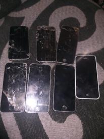 Joblot of 7 iphones spares or repairs