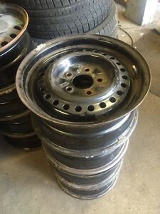 4 steel rims 15 inch 5x114.3 bolt pattern  Kitchener / Waterloo Kitchener Area image 1