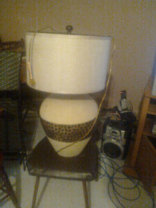 floor lamp and table lamp and elephant table lamp