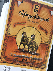 Calgary Stampede Rodeo  **4 CLUBHOUSE SEATS**  July 8th