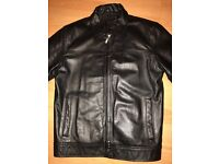 Black leather jacket. Men's. Small.