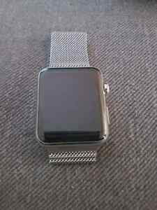 Apple watch stainless case mint shape with apple care