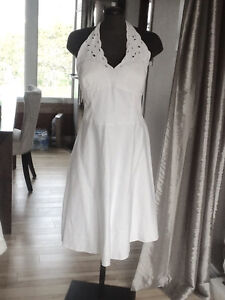 Size 18 White Halter Style Prom Dress