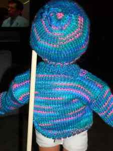 DOLL SWEATER /HAT FOR 18 IN DOLL Windsor Region Ontario image 2