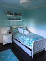 Girls Bedroom Bed, Night Stand and Desk
