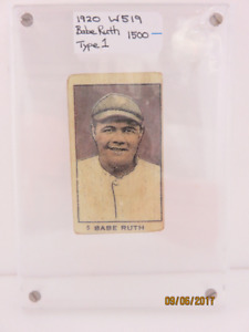 TY COBB & BABE RUTH BASEBALL CARDS FOR SALE