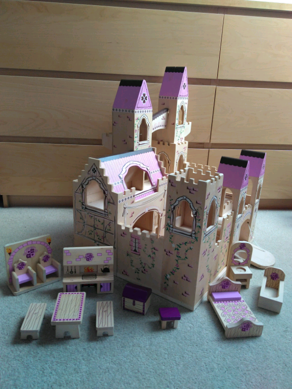 Melissa Doug Princess Wooden Folding Castle Matching Furniture In Darlington County Durham Gumtree