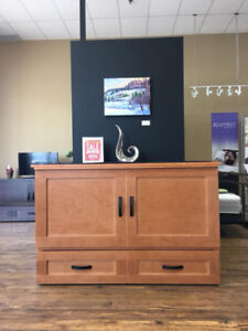 Cabinet Bed™ Murphy Bed Oak Colored Floor Model Sale!