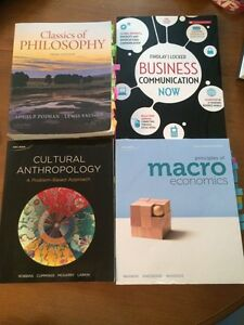 Textbooks for Sale - Comm 100, Econ 114, Anth 111
