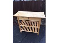 IKEA WOOD PINE KITCHEN TROLLEY ** FREE DELIVERY SUNDAY NIGHT **