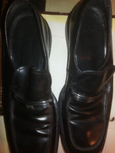 Hugo Boss Black Leather Dress Shoes New Made In Italy