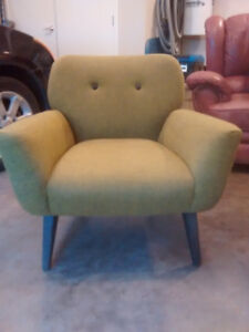 Mid Century Green Accent Chair