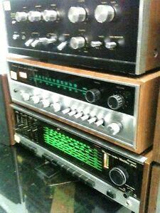 SANSUI AMPLIFIER--- TAYA Turntable ---- Mission Speakers