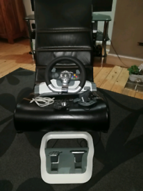 X ROCKER PRO GAMING CHAIR WITH STEERING WHEEL AND PEDELS for sale  County Antrim