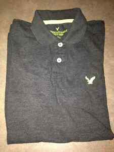 American Eagle Dark Gray Golf Shirt Small