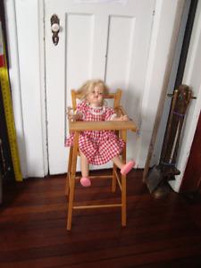Doll high chair- circa 1940