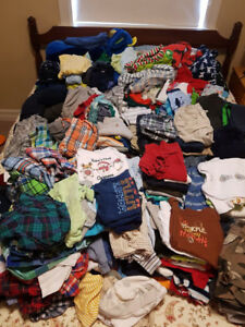 Little boy wardrobe sizes 0-3 months to 3T - over 250 items
