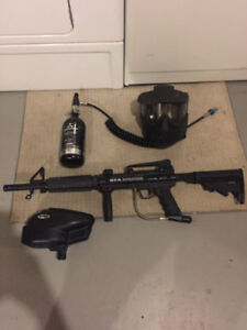 Complete Paintball Set up ! BT-4 assault, Halo Hopper, Co2 Tank