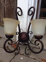 Sconce lights pair never used
