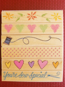 """Rubber Stamp Set by Hero Arts called """"Needlework Borders"""""""