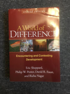 A World of Difference [Eric Sheppard, et al] Geography Textbook