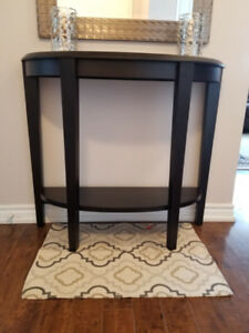 Hallway table, espresso coffee color, brand new in box
