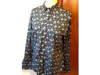 🐎👕 BM company navy horse print shirt pristine
