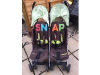 Cosatto Snap Double Buggy and Rain Cover