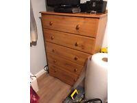 Bedroom furniture set - wardrobe drawers desk and bedside table