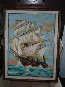 Sailing collection - antique tin, wall plates and clipper ship